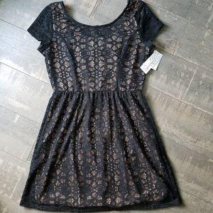 ☀️3/$25 Speechless Black Lace Sheath Dress NWT